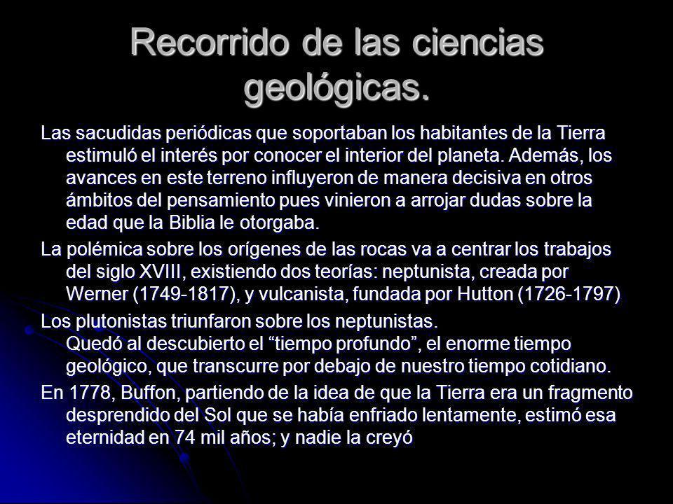 Recorrido de las ciencias geológicas.