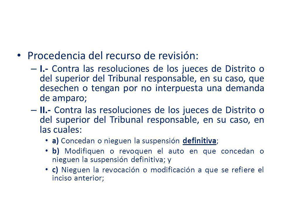 Procedencia del recurso de revisión: