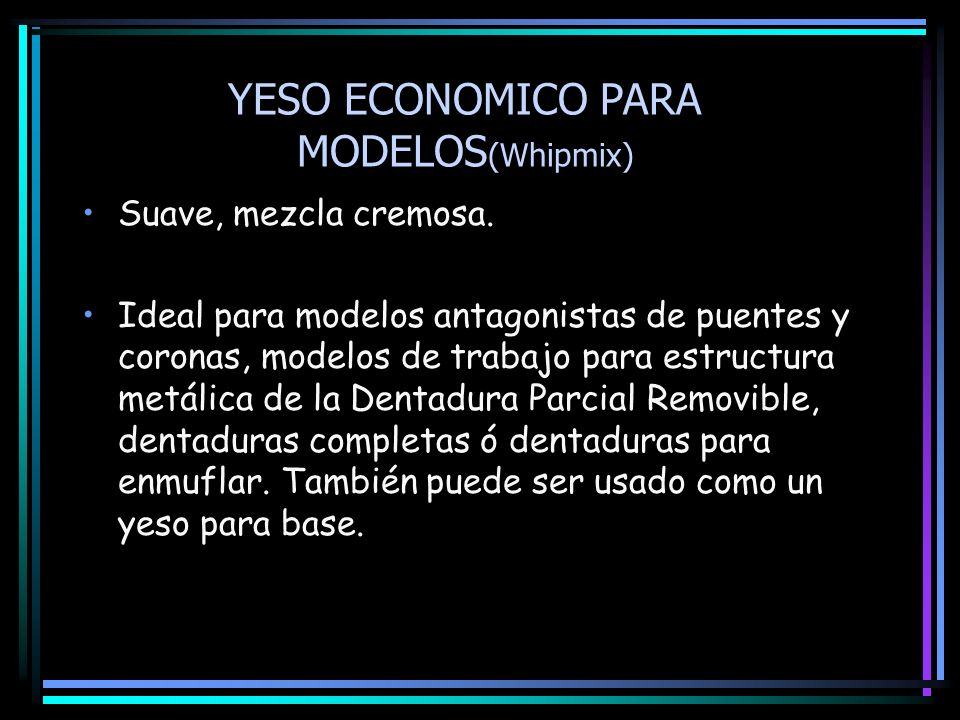 YESO ECONOMICO PARA MODELOS(Whipmix)