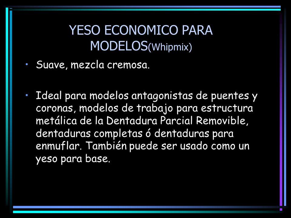 YESO ECONOMICO PARA MODELOS(Whipmix)