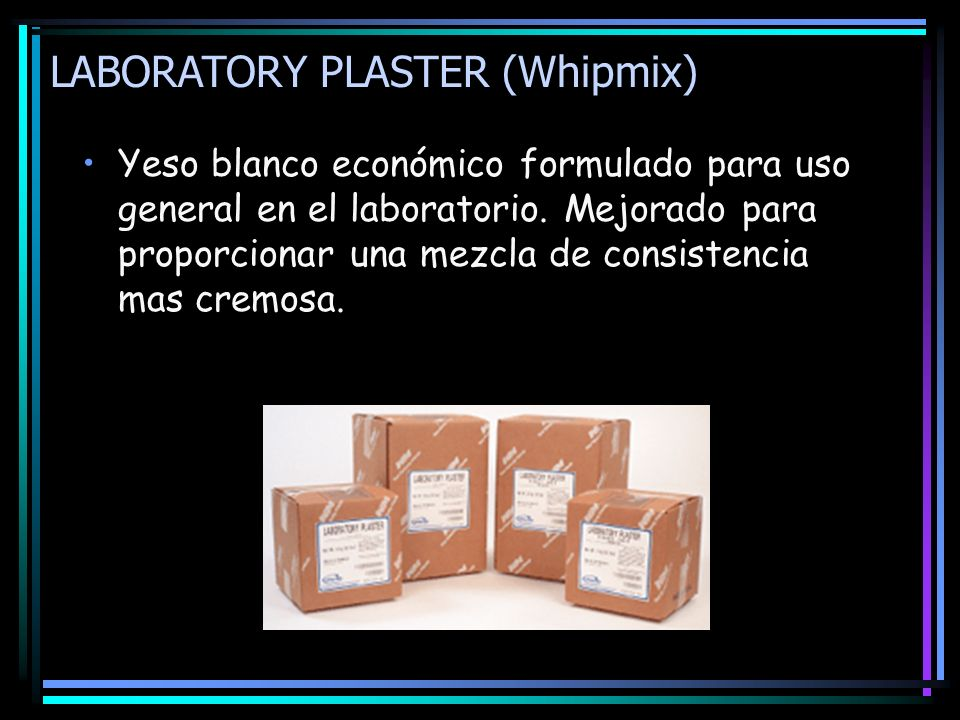 LABORATORY PLASTER (Whipmix)