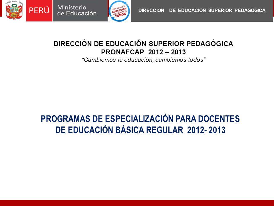 DIRECCIÓN DE EDUCACIÓN SUPERIOR PEDAGÓGICA