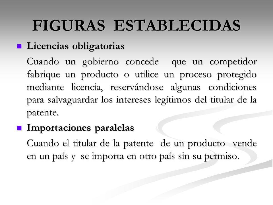FIGURAS ESTABLECIDAS Licencias obligatorias