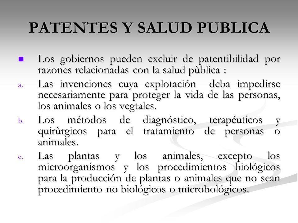 PATENTES Y SALUD PUBLICA