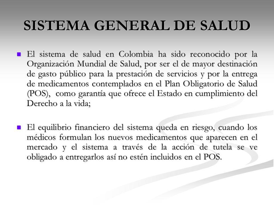 SISTEMA GENERAL DE SALUD