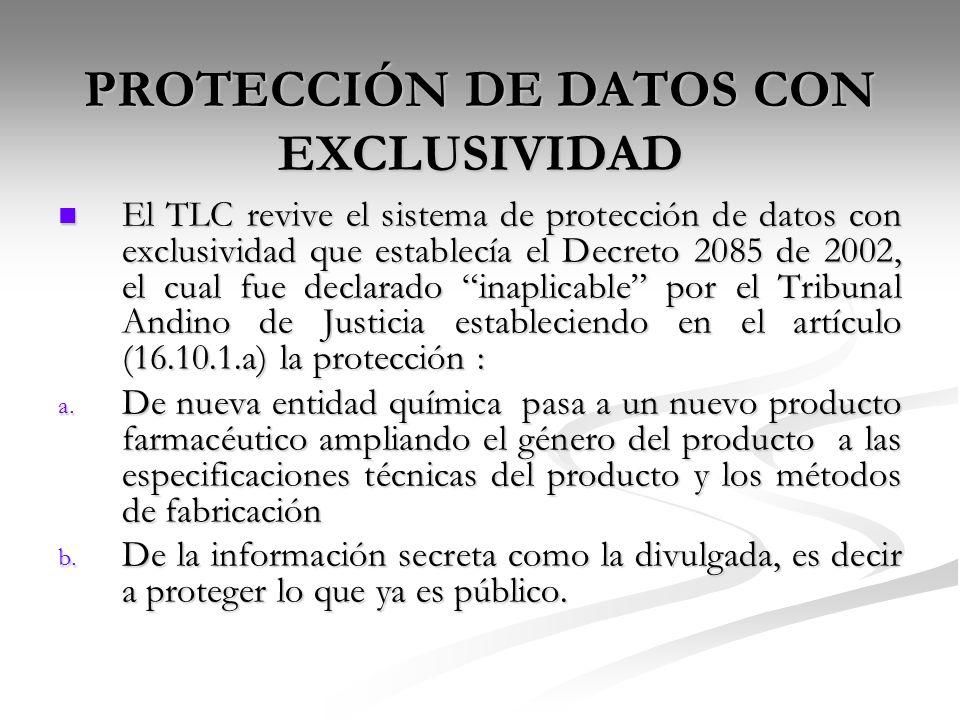 PROTECCIÓN DE DATOS CON EXCLUSIVIDAD