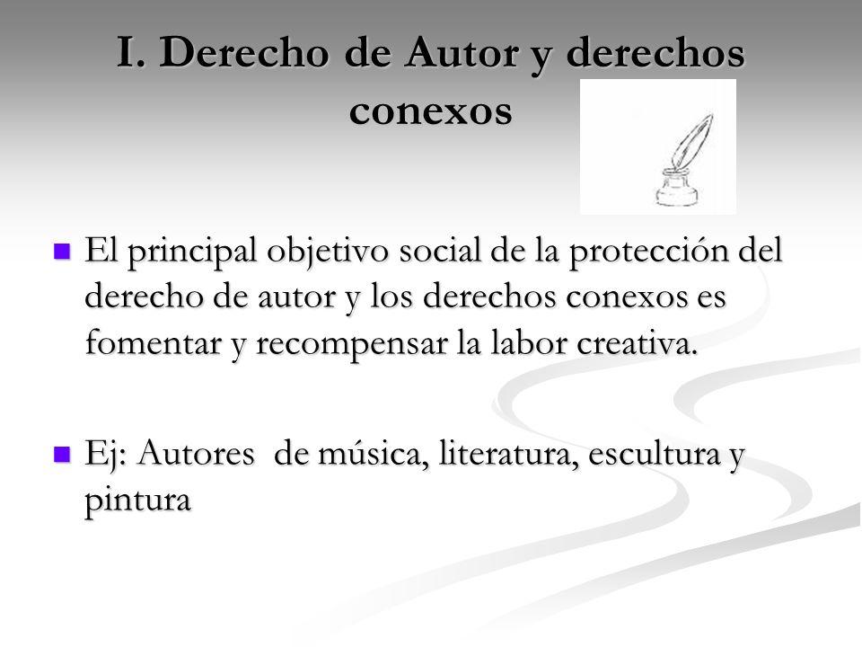 I. Derecho de Autor y derechos conexos