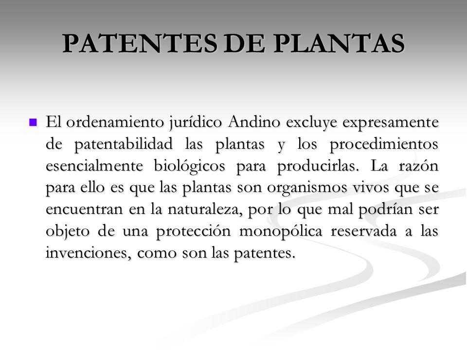 PATENTES DE PLANTAS
