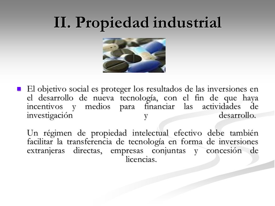 II. Propiedad industrial