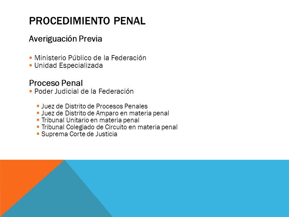 Procedimiento Penal Averiguación Previa Proceso Penal