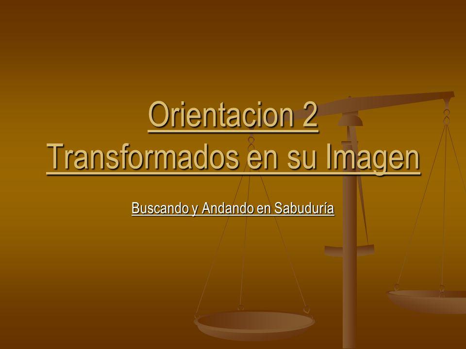 Orientacion 2 Transformados en su Imagen