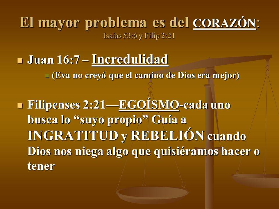 El mayor problema es del CORAZÓN: Isaías 53:6 y Filip 2:21