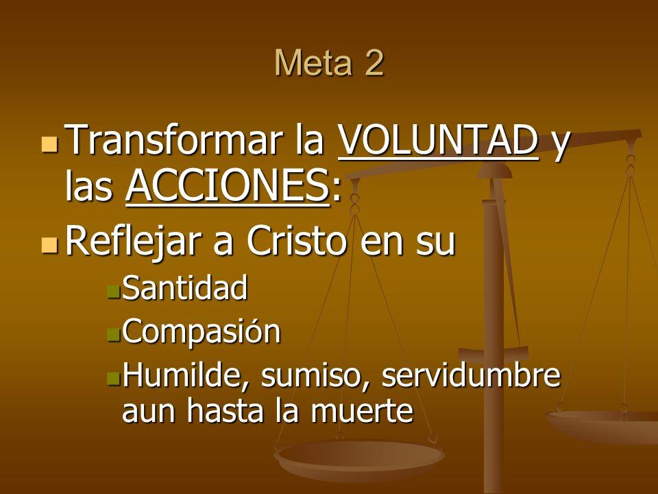 Transformar la VOLUNTAD y las ACCIONES: Reflejar a Cristo en su