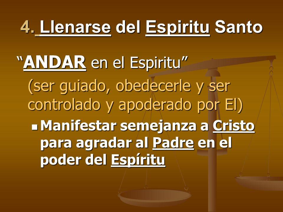 4. Llenarse del Espiritu Santo