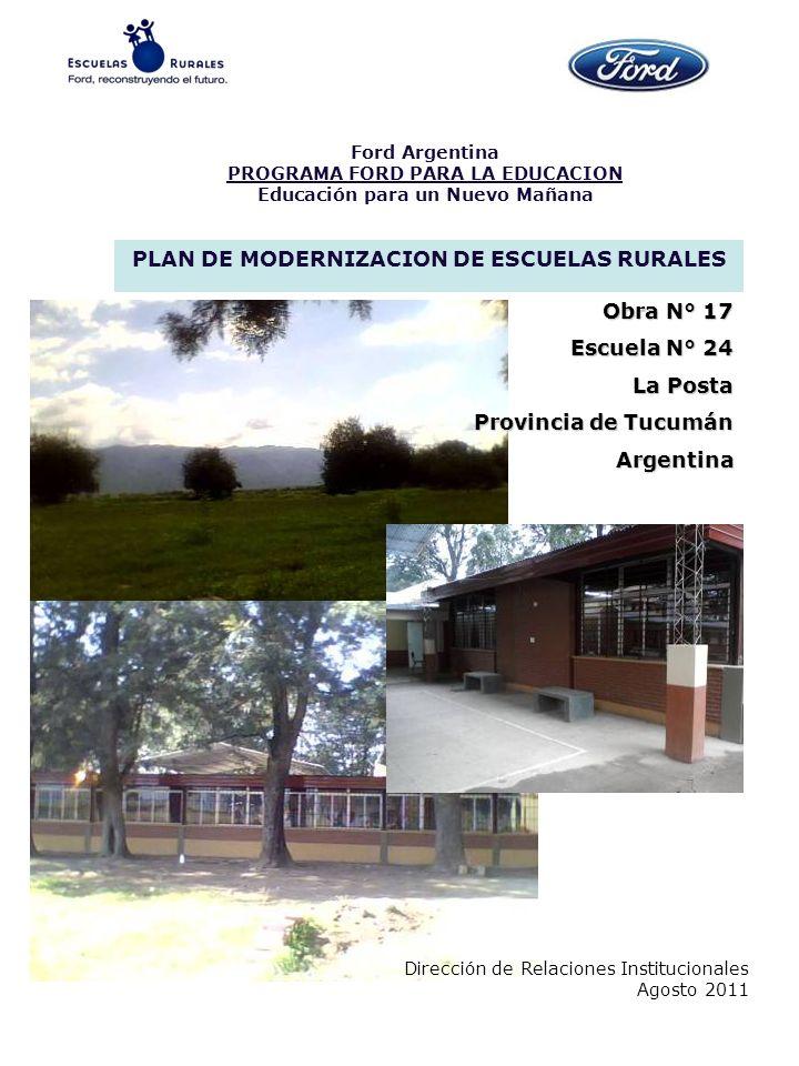 PLAN DE MODERNIZACION DE ESCUELAS RURALES