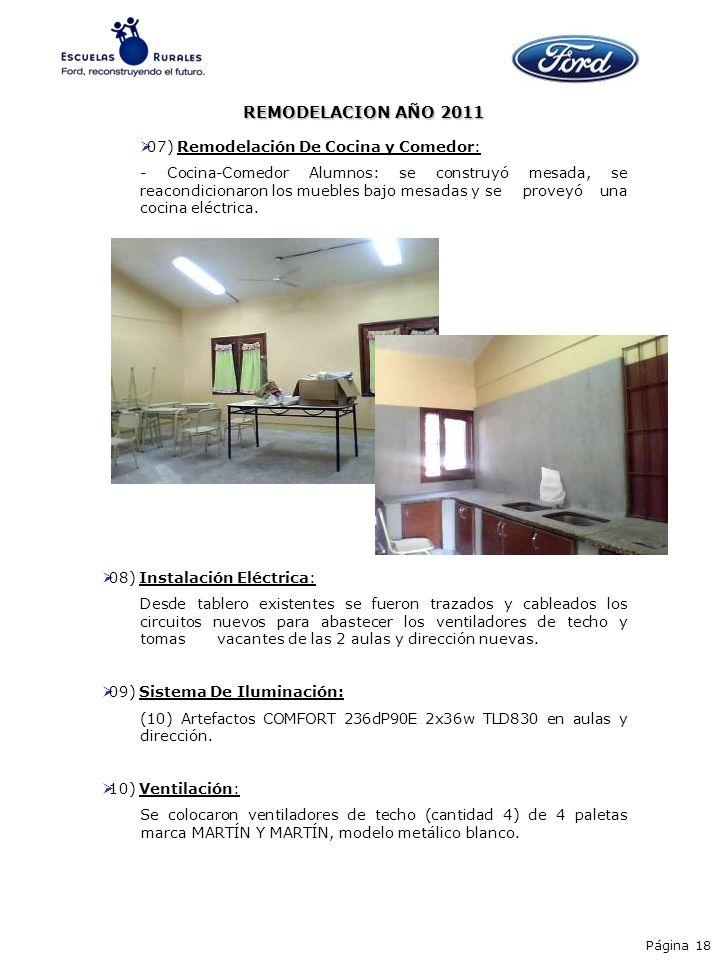 REMODELACION AÑO 2011 07) Remodelación De Cocina y Comedor: