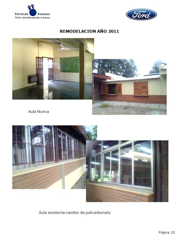 REMODELACION AÑO 2011 Aula Nueva