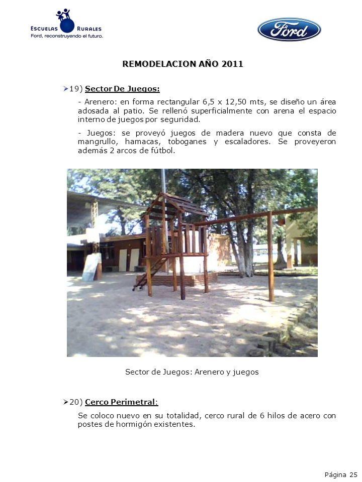 REMODELACION AÑO 2011 19) Sector De Juegos:
