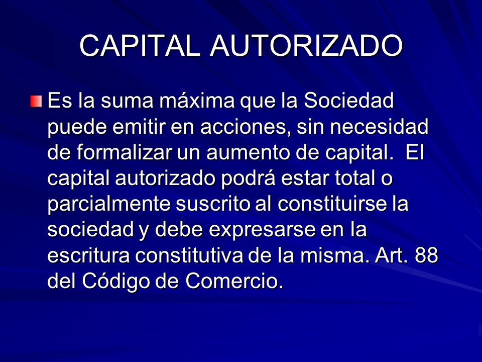 CAPITAL AUTORIZADO