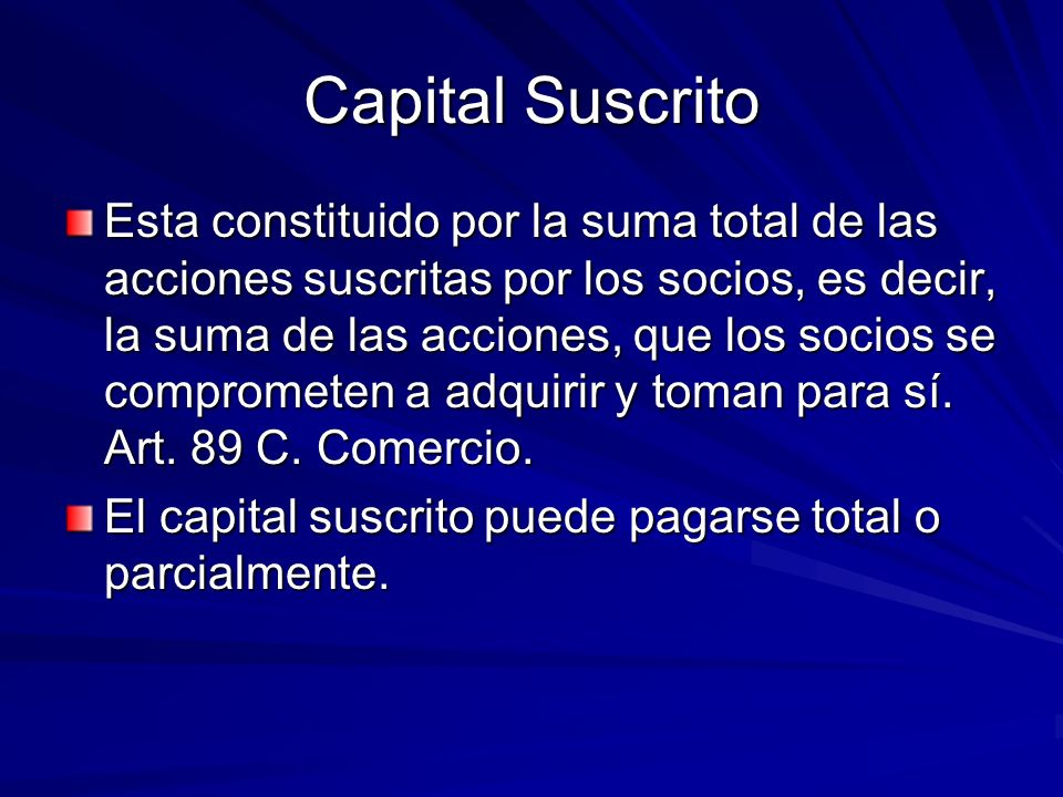 Capital Suscrito