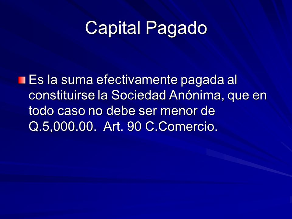 Capital Pagado