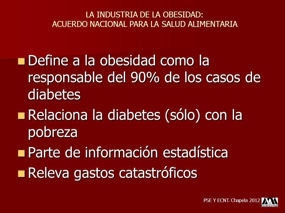 Relaciona la diabetes (sólo) con la pobreza