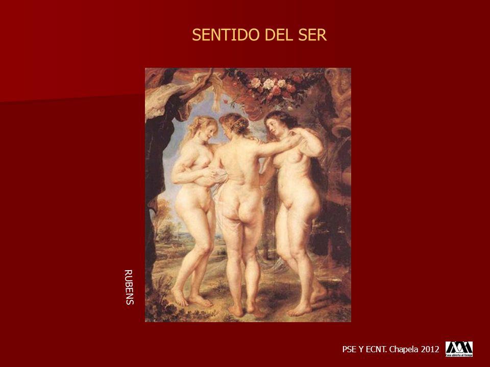 SENTIDO DEL SER RUBENS PSE Y ECNT. Chapela 2012