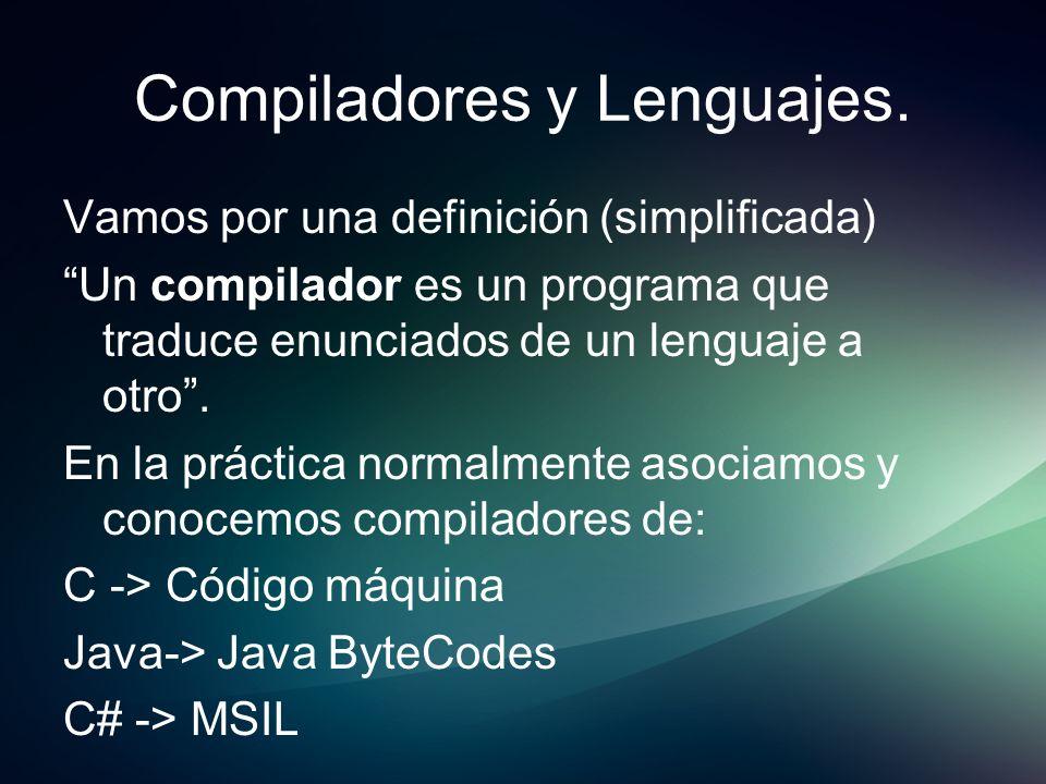 Compiladores y Lenguajes.