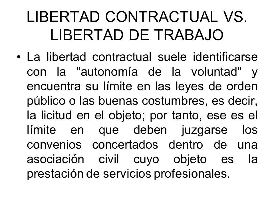 LIBERTAD CONTRACTUAL VS. LIBERTAD DE TRABAJO