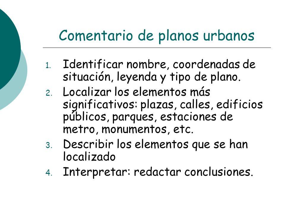 Comentario de planos urbanos