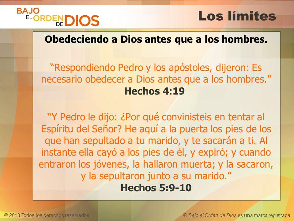 Obedeciendo a Dios antes que a los hombres.