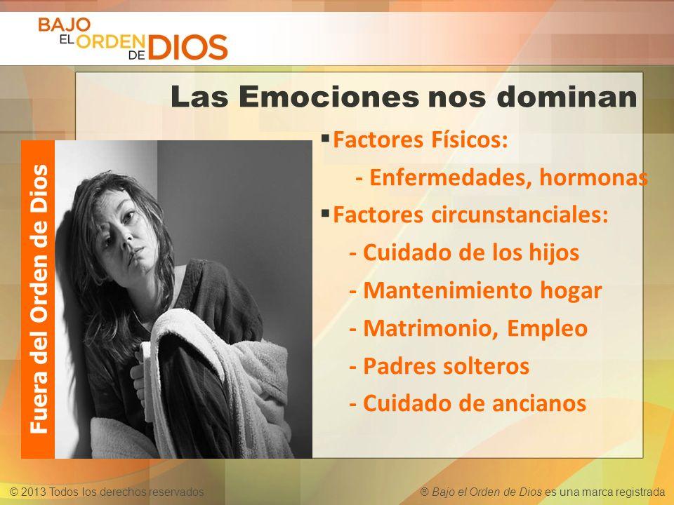 Las Emociones nos dominan