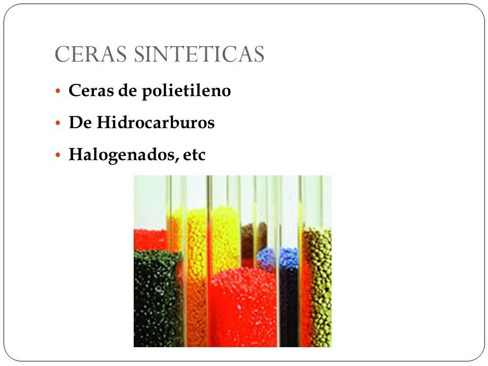 CERAS SINTETICAS Ceras de polietileno De Hidrocarburos