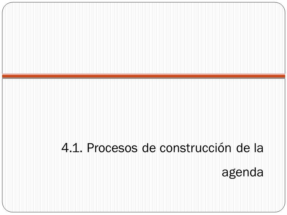 4.1. Procesos de construcción de la agenda