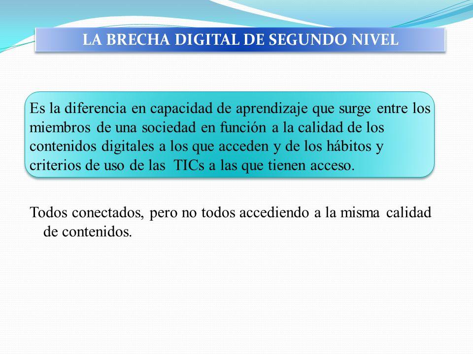 LA BRECHA DIGITAL DE SEGUNDO NIVEL