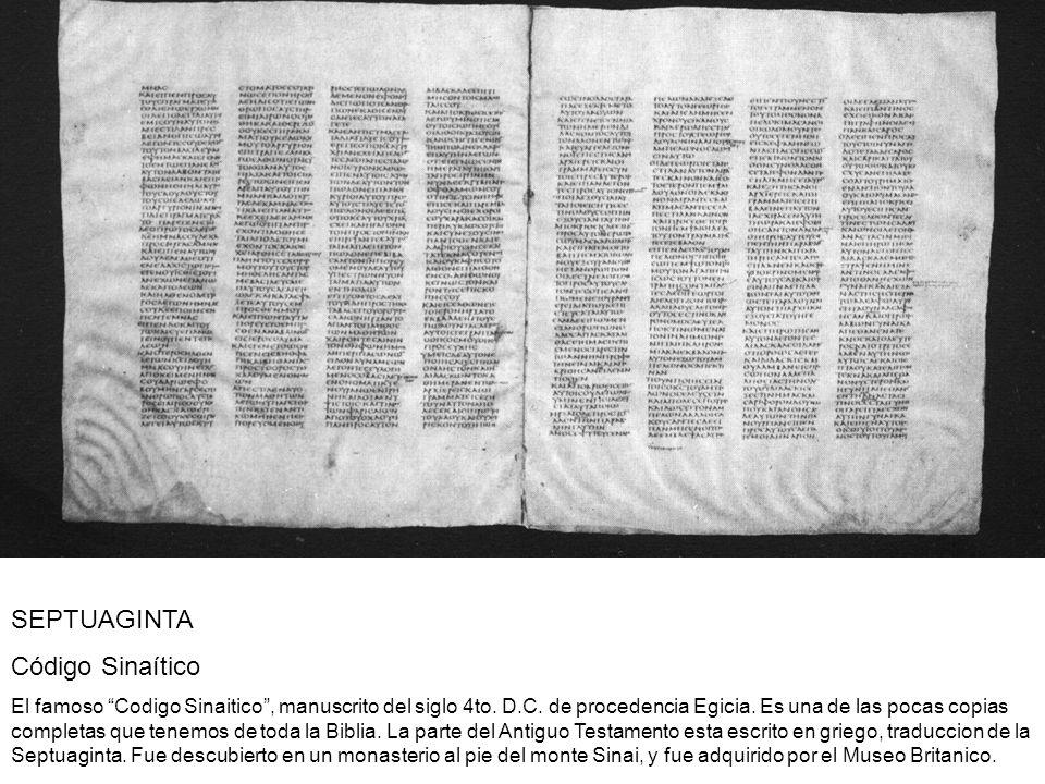 SEPTUAGINTA Código Sinaítico