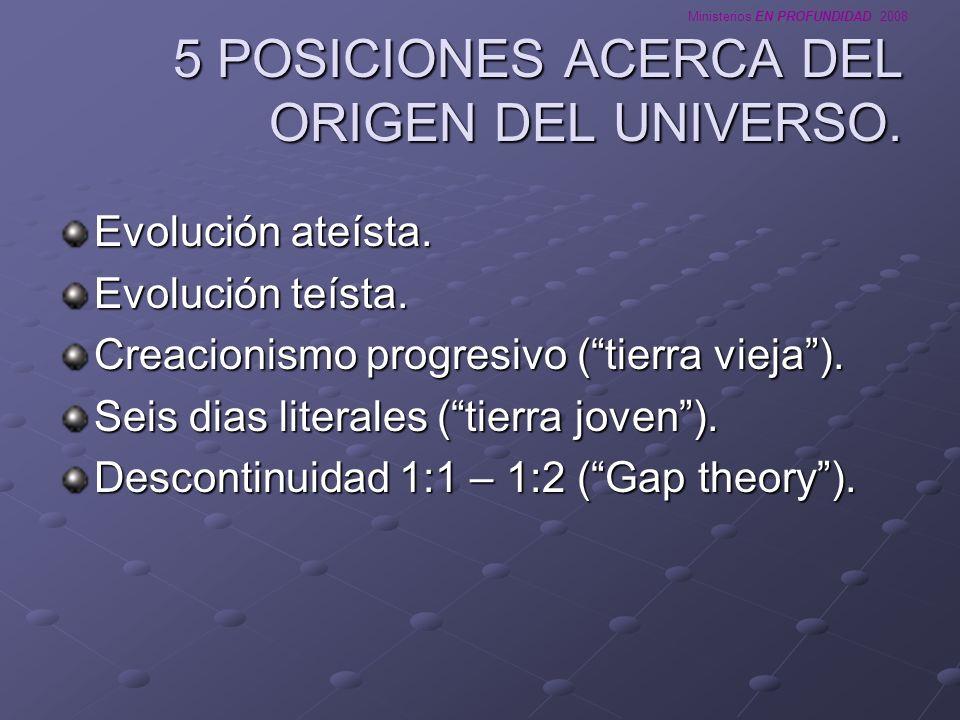 5 POSICIONES ACERCA DEL ORIGEN DEL UNIVERSO.