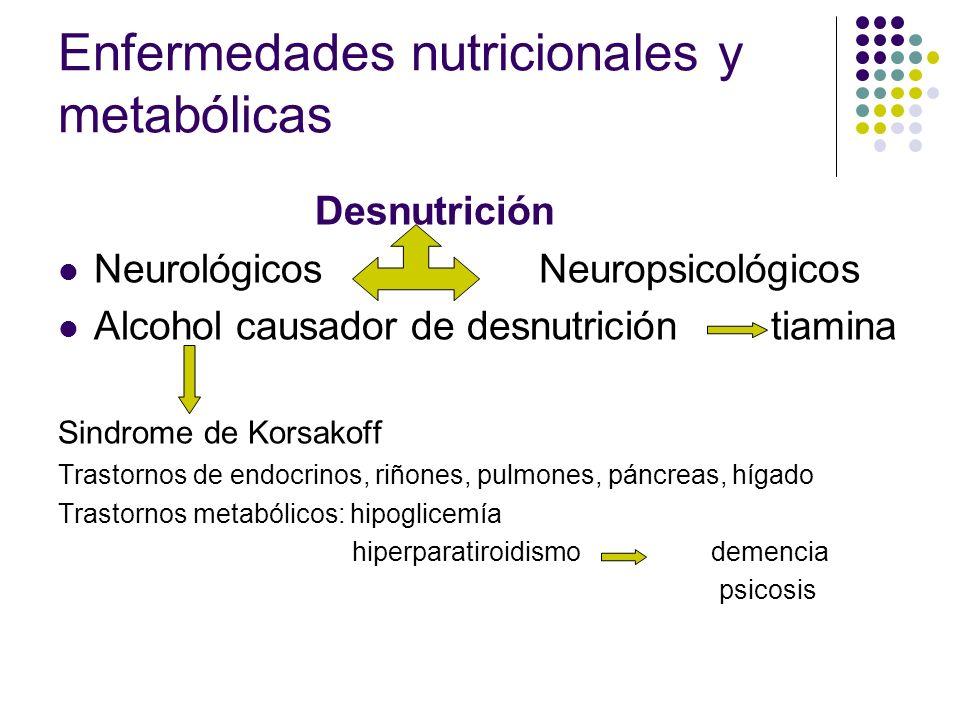 Enfermedades nutricionales y metabólicas