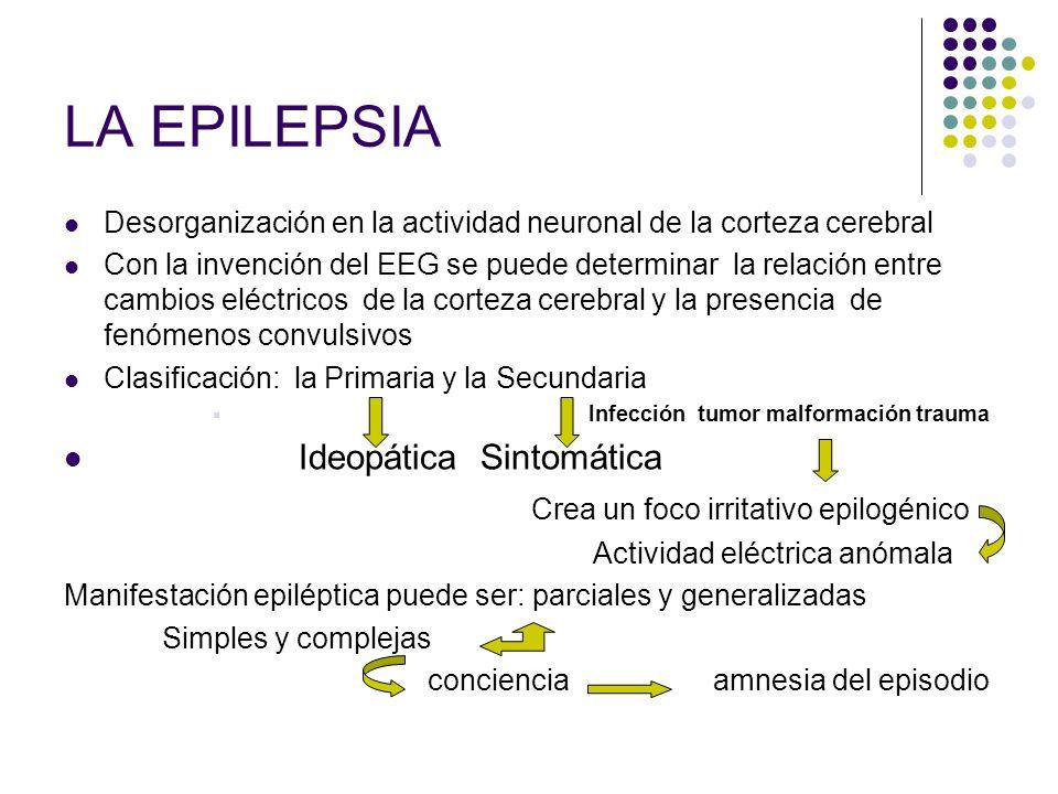 LA EPILEPSIA Ideopática Sintomática