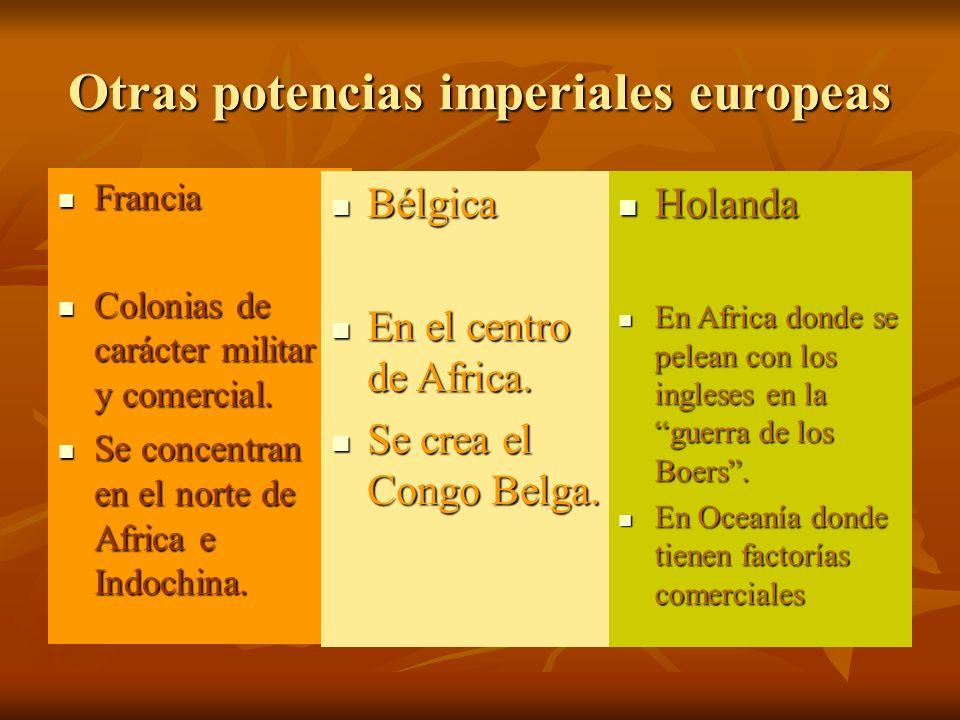 Otras potencias imperiales europeas