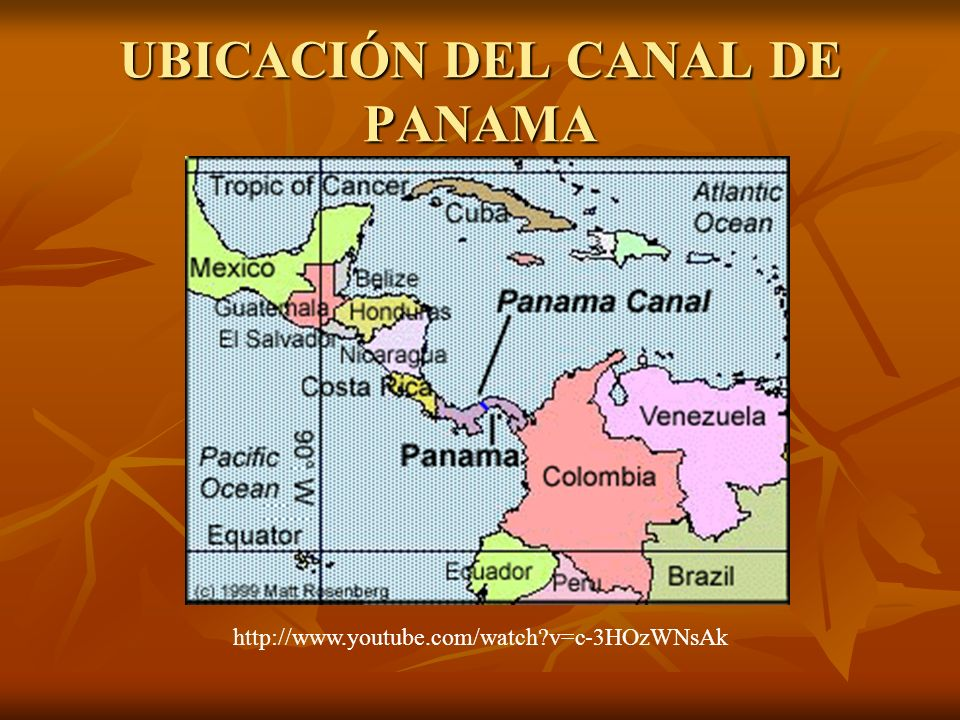 UBICACIÓN DEL CANAL DE PANAMA
