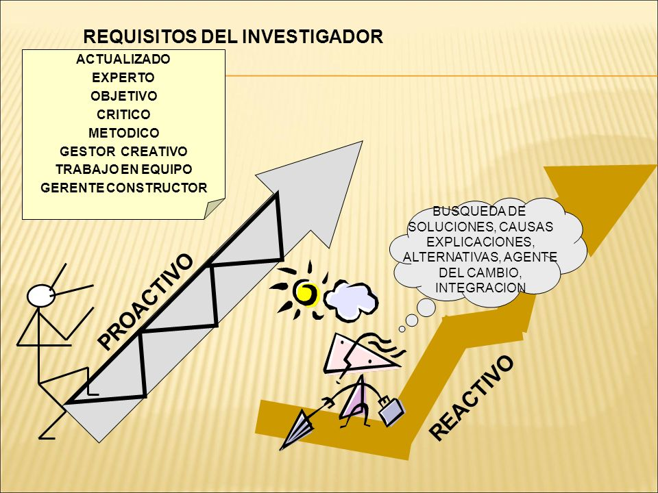 REQUISITOS DEL INVESTIGADOR