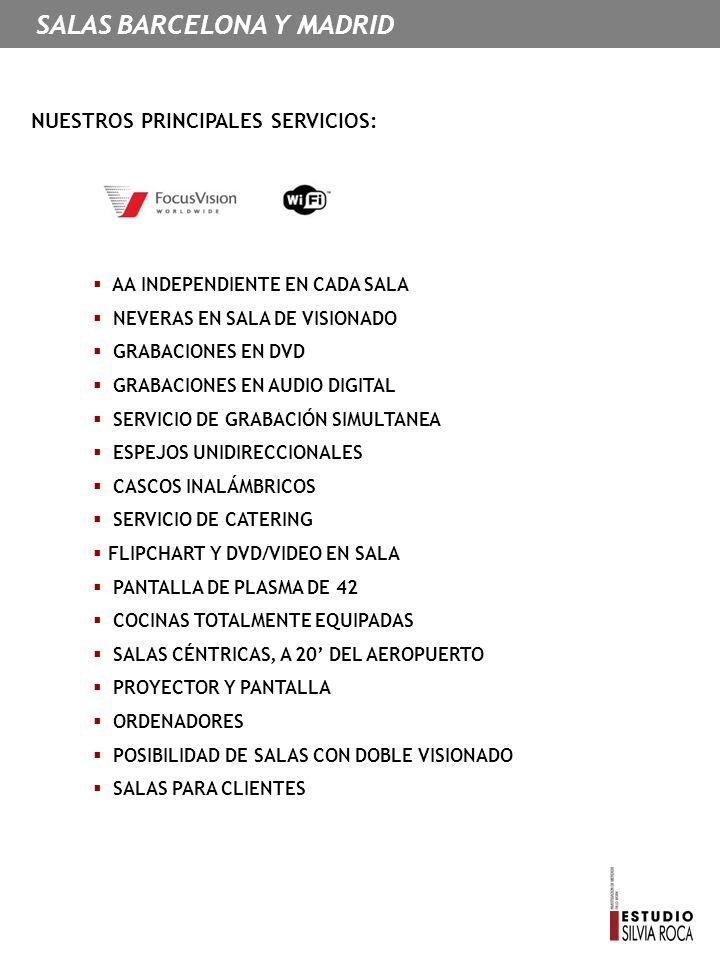 SALAS BARCELONA Y MADRID