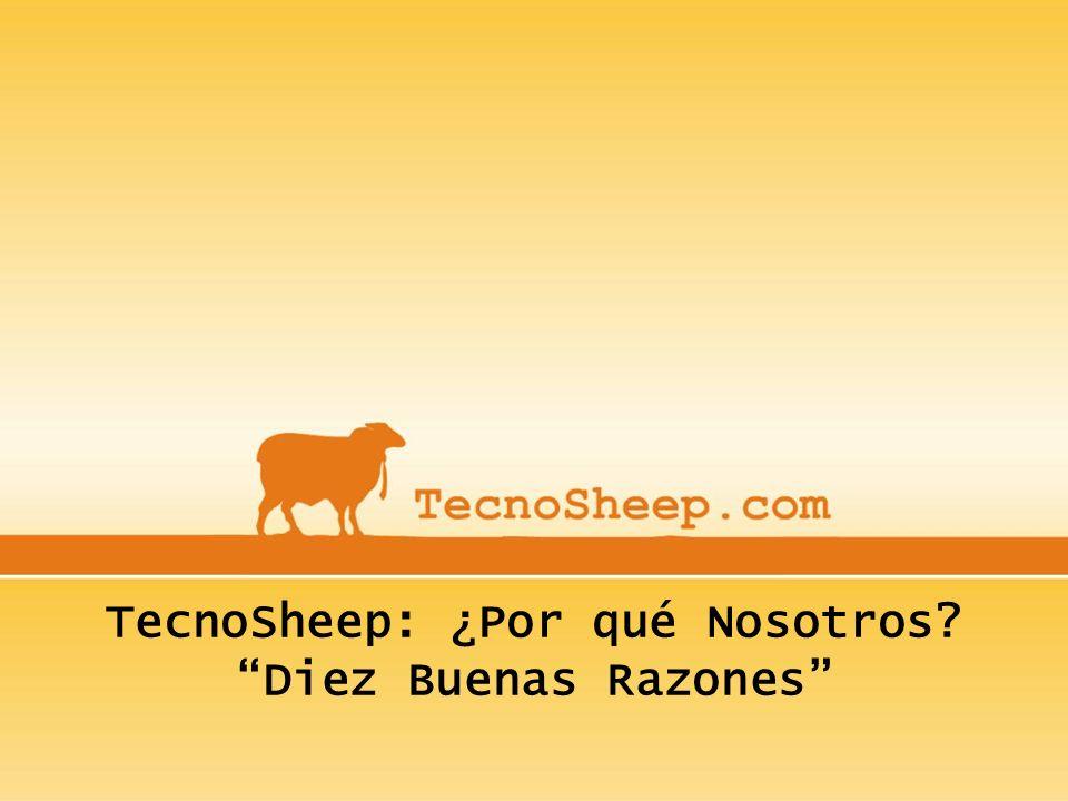 TecnoSheep: ¿Por qué Nosotros Diez Buenas Razones