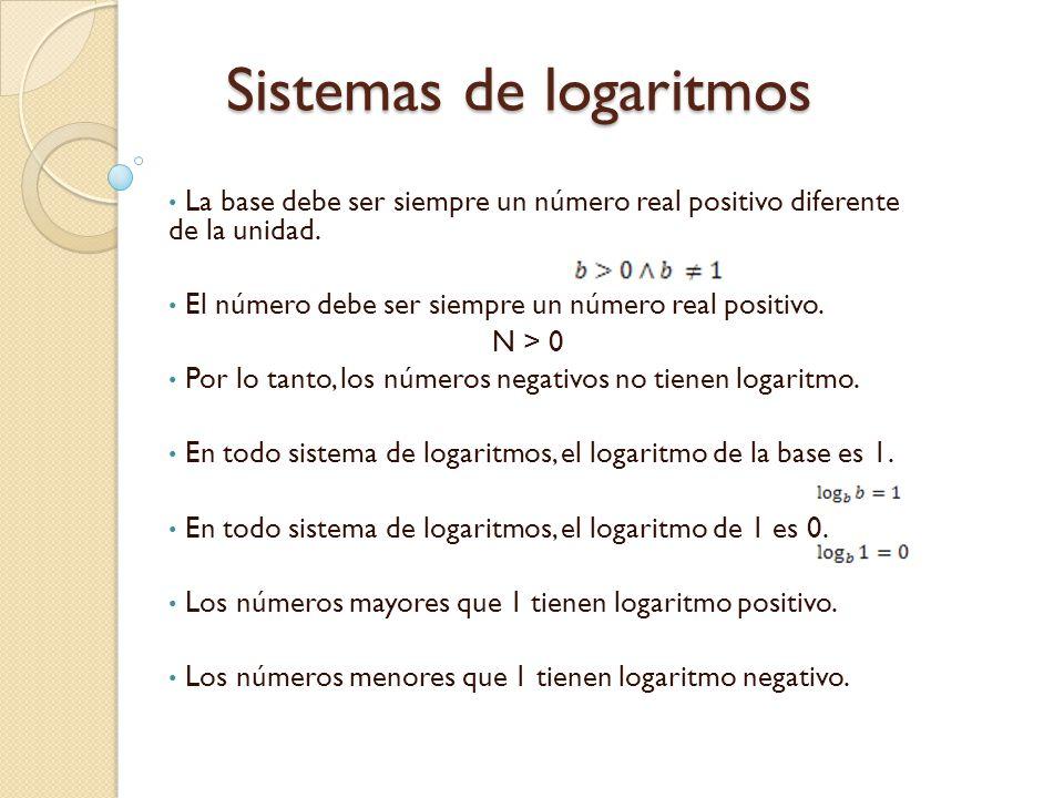 Sistemas de logaritmos