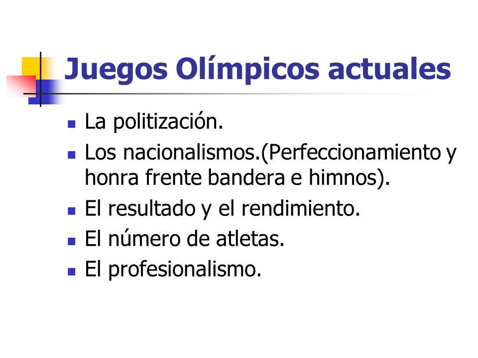 Juegos Olímpicos actuales