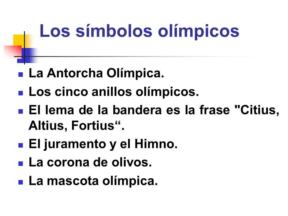 Los símbolos olímpicos