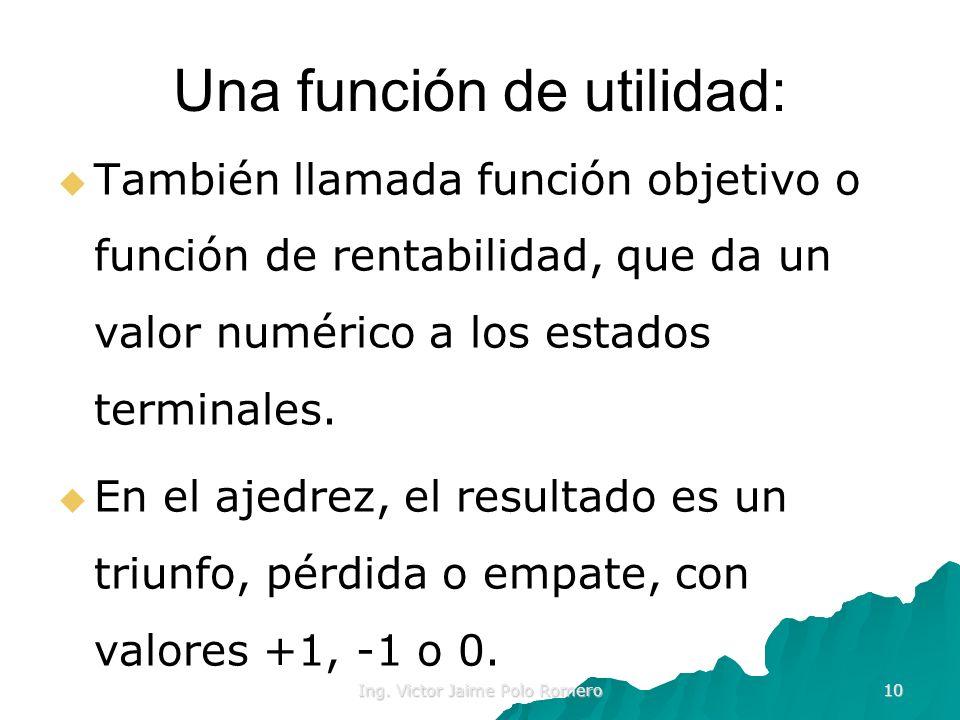 Una función de utilidad:
