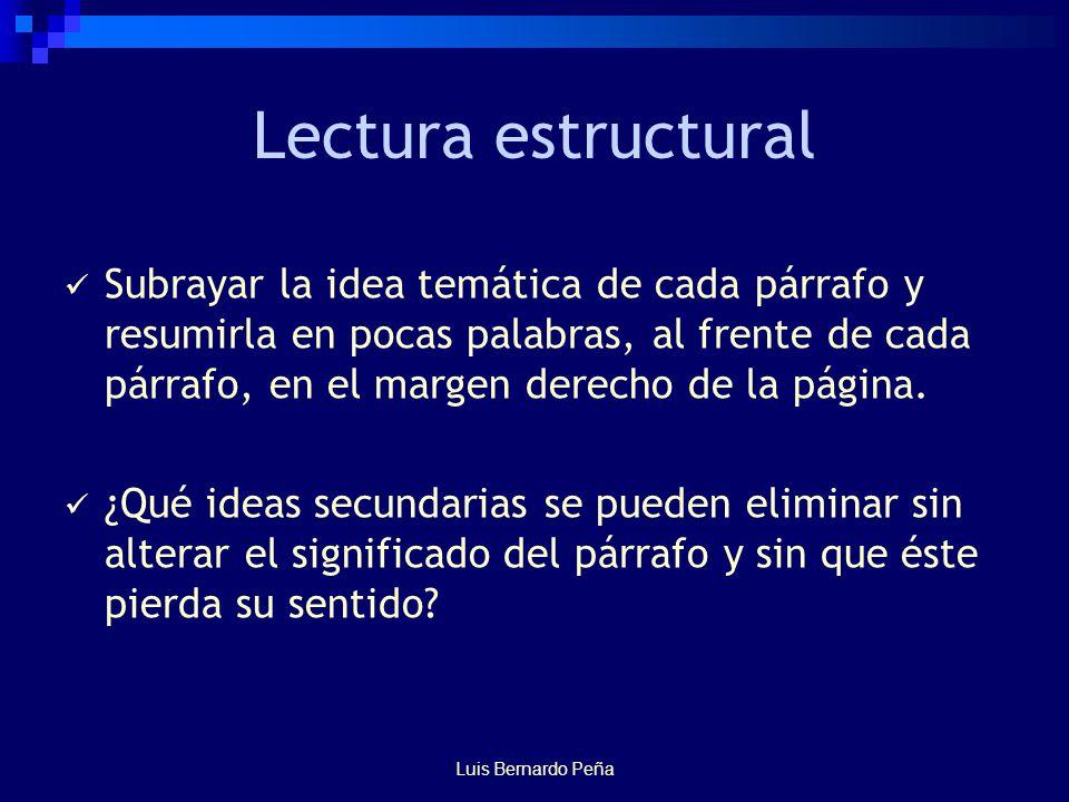 Lectura estructural