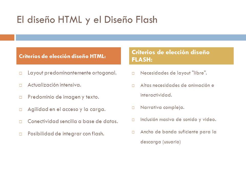 El diseño HTML y el Diseño Flash